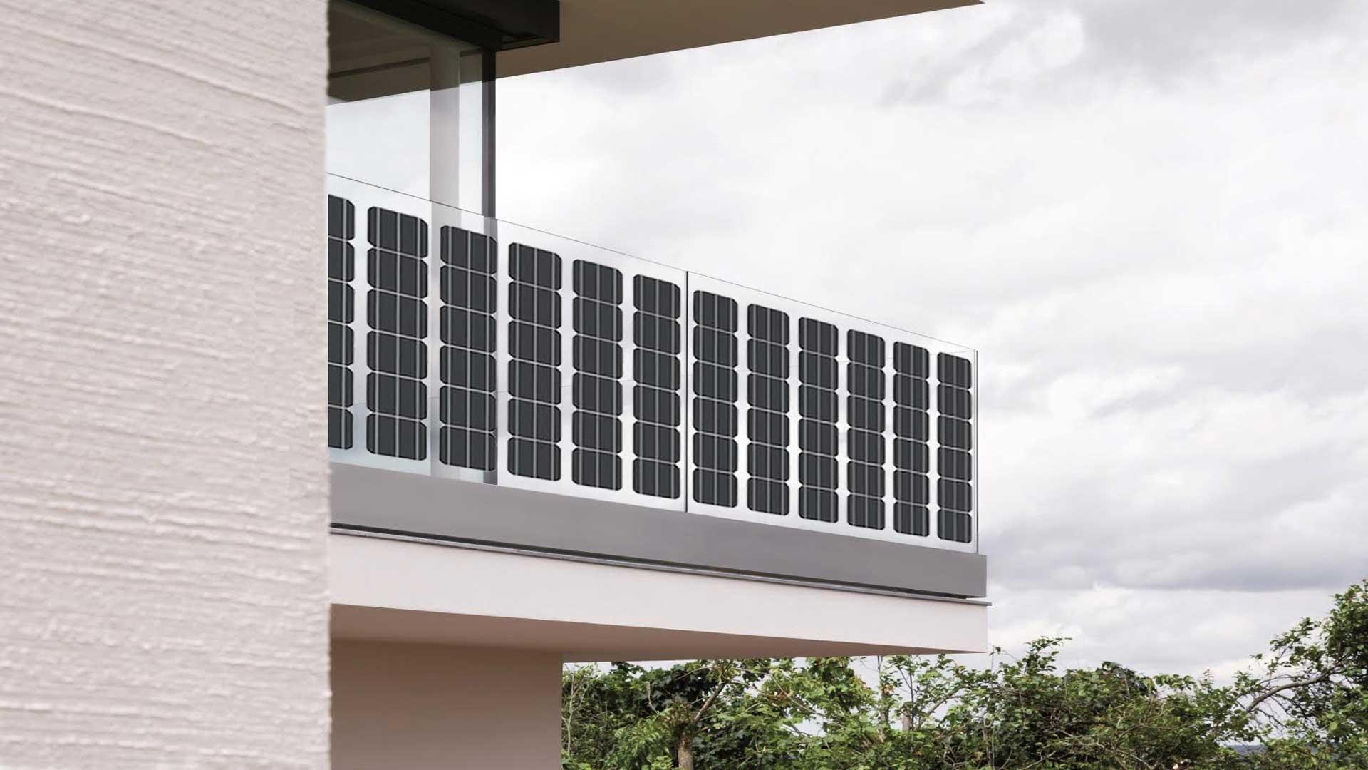 solare balkongel nder von a2 solar. Black Bedroom Furniture Sets. Home Design Ideas