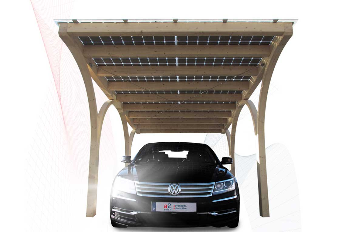 solar carports von a2 solar. Black Bedroom Furniture Sets. Home Design Ideas